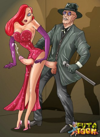 futanari toon Jessica Rabbit fucked from behind